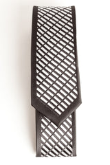 Black & Gray Diagonal Dash (Skinny Tie)