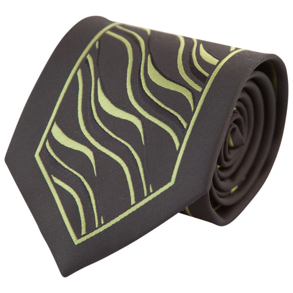 Black with Green Tiger Stripes (Traditional Tie)