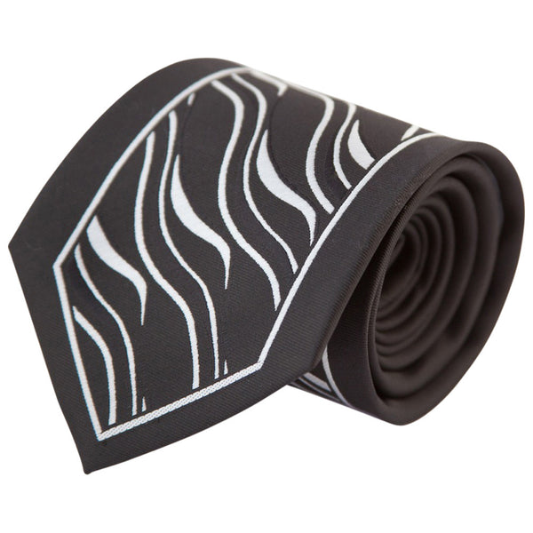 Black with Silver Tiger Stripe (Traditional Tie)
