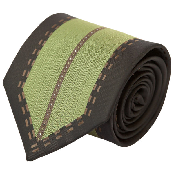 Green Center with Brown Border (Traditional Tie)