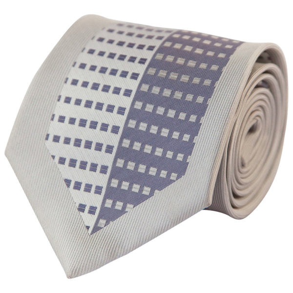 Light Periwinkle & Silver Switchboard (Traditional Tie)