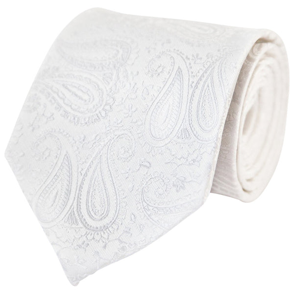 White Paisley (Traditional Tie)