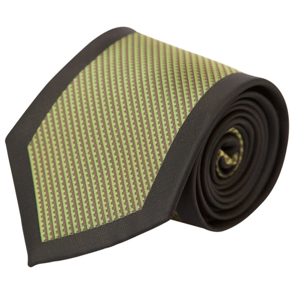 Green with Charcoal Border (Traditional Tie)