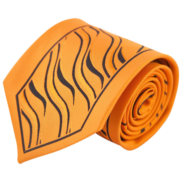 Orange & Black Tiger Stripe (Traditional Tie)