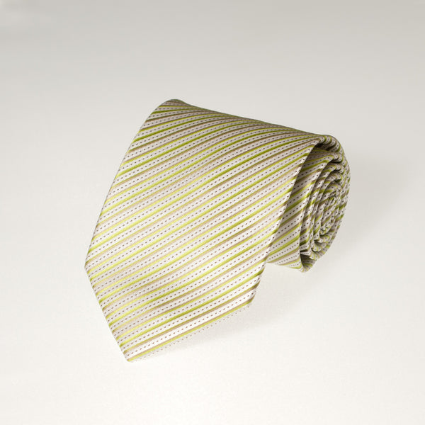 White & Green Striped (Traditional Tie)