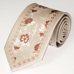 Beige Flower (Traditional Tie)