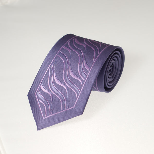 Purple Tiger Stripe (Traditional Tie)