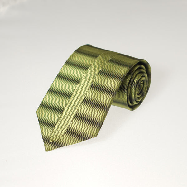 Green & Black Side Stripes (Traditional Tie)