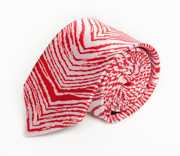Red & White Zubaz Tie