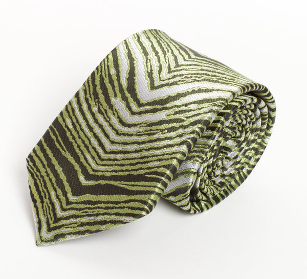 Green, Black & White Zubaz Tie