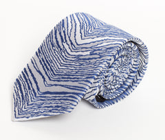 Blue, Gray, & White Zubaz Tie