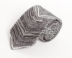 Black, Gray, & White Zubaz Tie