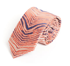 Dirty White, Blue, & Orange Zubaz Tie