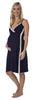 Vogue Nightdress - Navy/Soft Grey