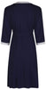 Vogue Dressing Gown - Navy/Soft Grey