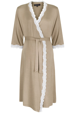 MamaMoosh Radiance Maternity Dressing Gown Mink