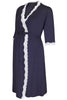 Radiance Maternity Dressing Gown in Navy