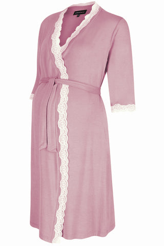 Radiance Dressing Gown - Dusky Pink