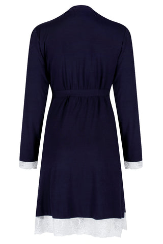 Allure Dressing Gown - Navy
