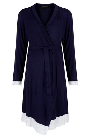 Maternity Dressing Gown Allure Navy MamaMoosh