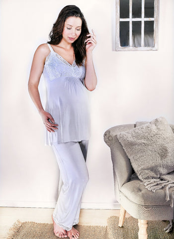 Allure Camisole Pyjamas - Light Grey