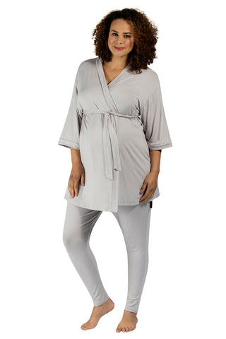Bliss Dressing Gown - Light Grey
