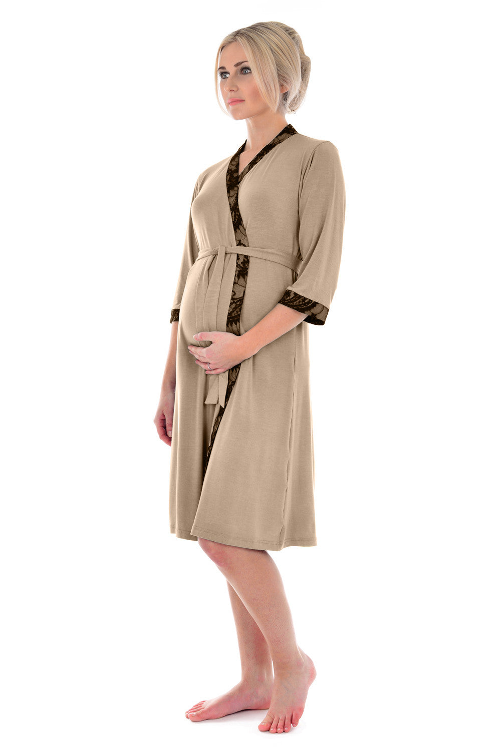 369719c0506 ... MamaMoosh Indulgence Maternity Dressing Gown Mink ...