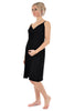 MamaMoosh Indulgence Maternity Nursing Nightdress Black - front