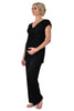 MamaMoosh Indulgence Maternity Nursing Pyjamas Black - front