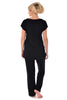 MamaMoosh Indulgence Maternity Nursing Pyjamas Black - back