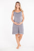 MamaMoosh Mirage Maternity Nursing Nightdress Grey