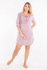 MamaMoosh Mirage Maternity Breastfeeding Nursing Nightshirt Dusky Pink