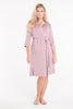 MamaMoosh Mirage Maternity Nursing Dressing Gown Dusky Pink