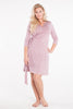 MamaMoosh Mirage Labour Wrap Dress Dusky Pink