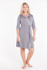 MamaMoosh Mirage Maternity Nursing Dressing Gown Grey