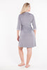MamaMoosh Mirage Maternity Nursing Dressing Gown Grey back