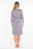 MamaMoosh Mirage Labour Wrap Dress Grey back