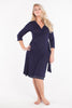 MamaMoosh Mirage Labour Wrap Dress Navy