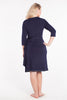 MamaMoosh Mirage Labour Wrap Dress Navy back