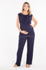 MamaMoosh Mirage Maternity Breastfeeding Nursing Pyjamas Navy