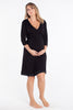 MamaMoosh Mirage Labour Wrap Dress Black