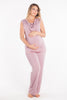 MamaMoosh Mirage Maternity Breastfeeding Nursing Pyjamas Dusky Pink