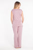 MamaMoosh Mirage Maternity Breastfeeding Nursing Pyjamas Dusky Pink Back