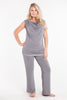 MamaMoosh Mirage Maternity Breastfeeding Nursing Pyjamas Grey