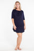 MamaMoosh Mirage Maternity Breastfeeding Nursing Nightshirt Navy