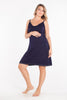 MamaMoosh Mirage Maternity Nursing Nightdress Navy