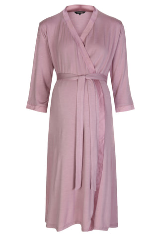 Mirage Maternity nursing dressing gown robe dusky pink