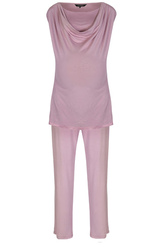 Mirage maternity breastfeeding pyjamas dusky pink