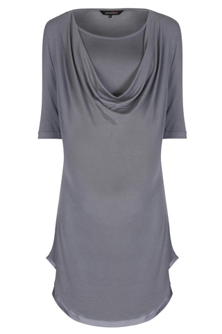 MamaMoosh Mirage Maternity Breastfeeding Nursing Nightshirt Grey