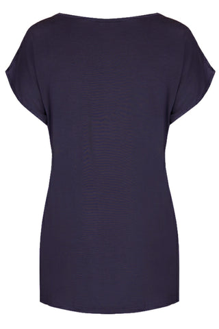 Radiance Short Sleeve Top - Navy